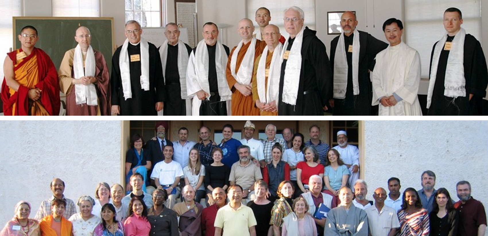 A United Religions Initiative interfaith gathering at the City of Ten Thousand Buddhas.